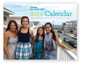 Au Pair USA 2014 Calendar