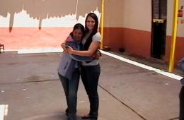 Annabelle volunteering in Peru