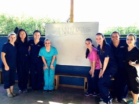 Penn nursing students in Nicaragua