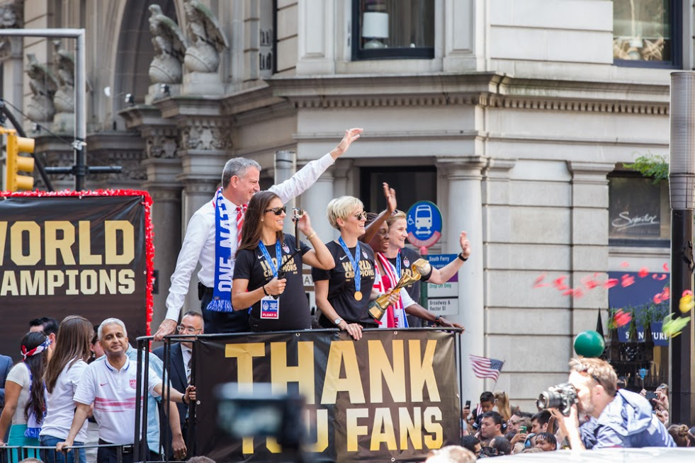 NYC Celebrates U.S. Women's Soccer Team With Parade