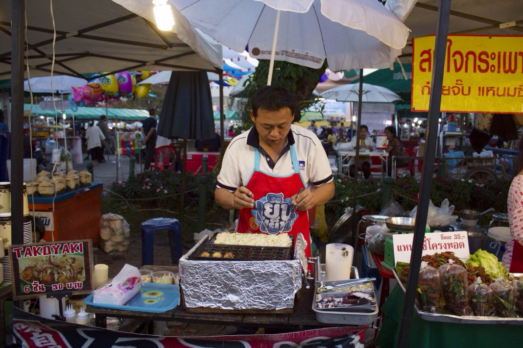 A man making delicious food at the Saturday Walking Street