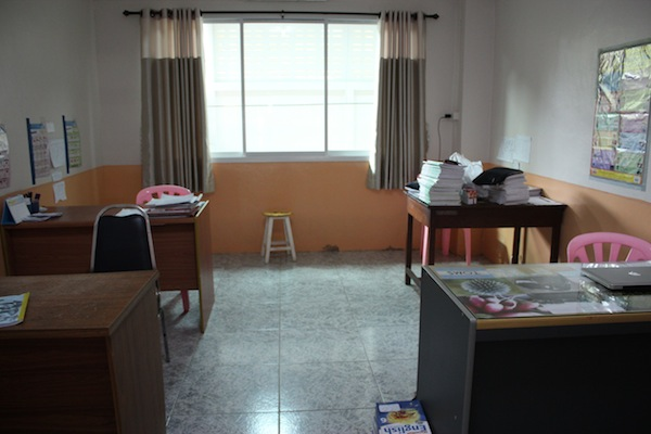 teachers' room in Thailand