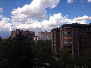 window view in Madrid, Spain
