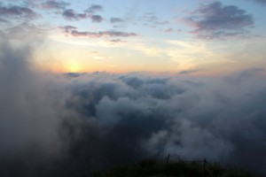 sunrise over the clouds in Thailand