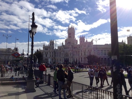 cityscape in Madrid